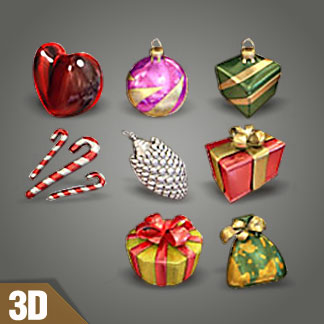 Free 3d Christmas Icons
