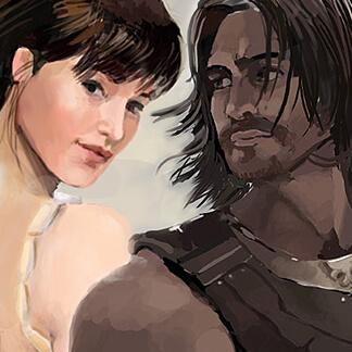 Prince of Persia Fan Art – Dastan and Tamina