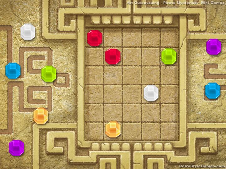 Art outsourcing - Incas gem illustration mini game