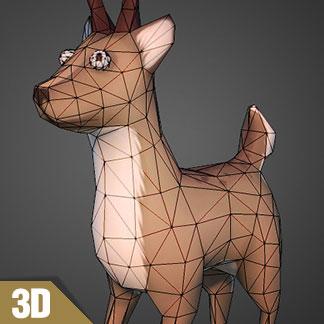 Free 3D Model of Santa's Reindeer (zombified)