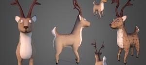 santas-reindeer-zombie-3d-model-previews