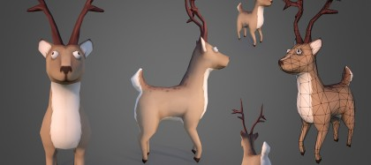 santas-reindeer-zombie-3d-model-previews