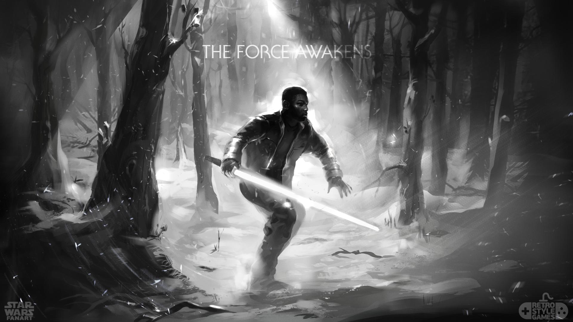 07-StarWars-Finn-at-the-forest-fanart