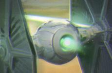 Star Wars Tie Fighter VS Millennium Falcon Chase – Force Awakens Fan Art