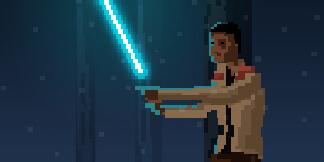 Star Wars Finn VS Kylo Ren – Force Awakens Pixel Art