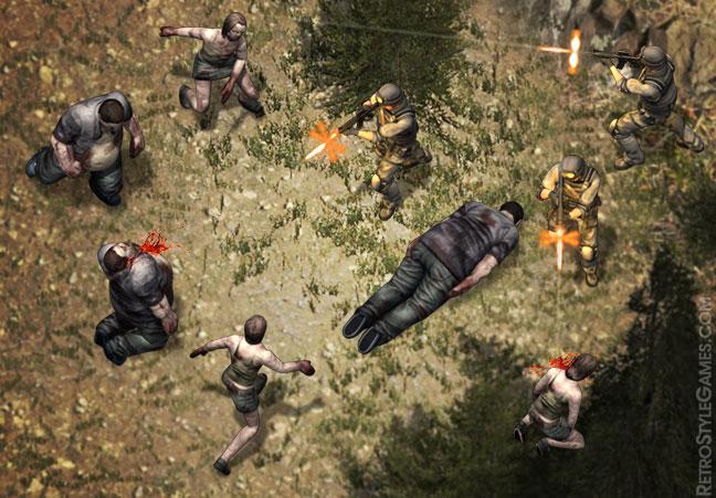 SWAT vs zombie Isometric Sprite
