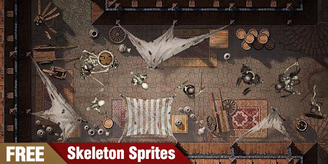 Free Skeleton Warriors Top-Down Sprites