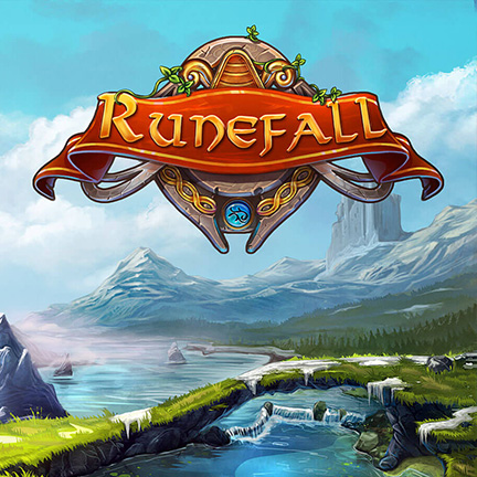 runefall match3 2d backgroung logo castle