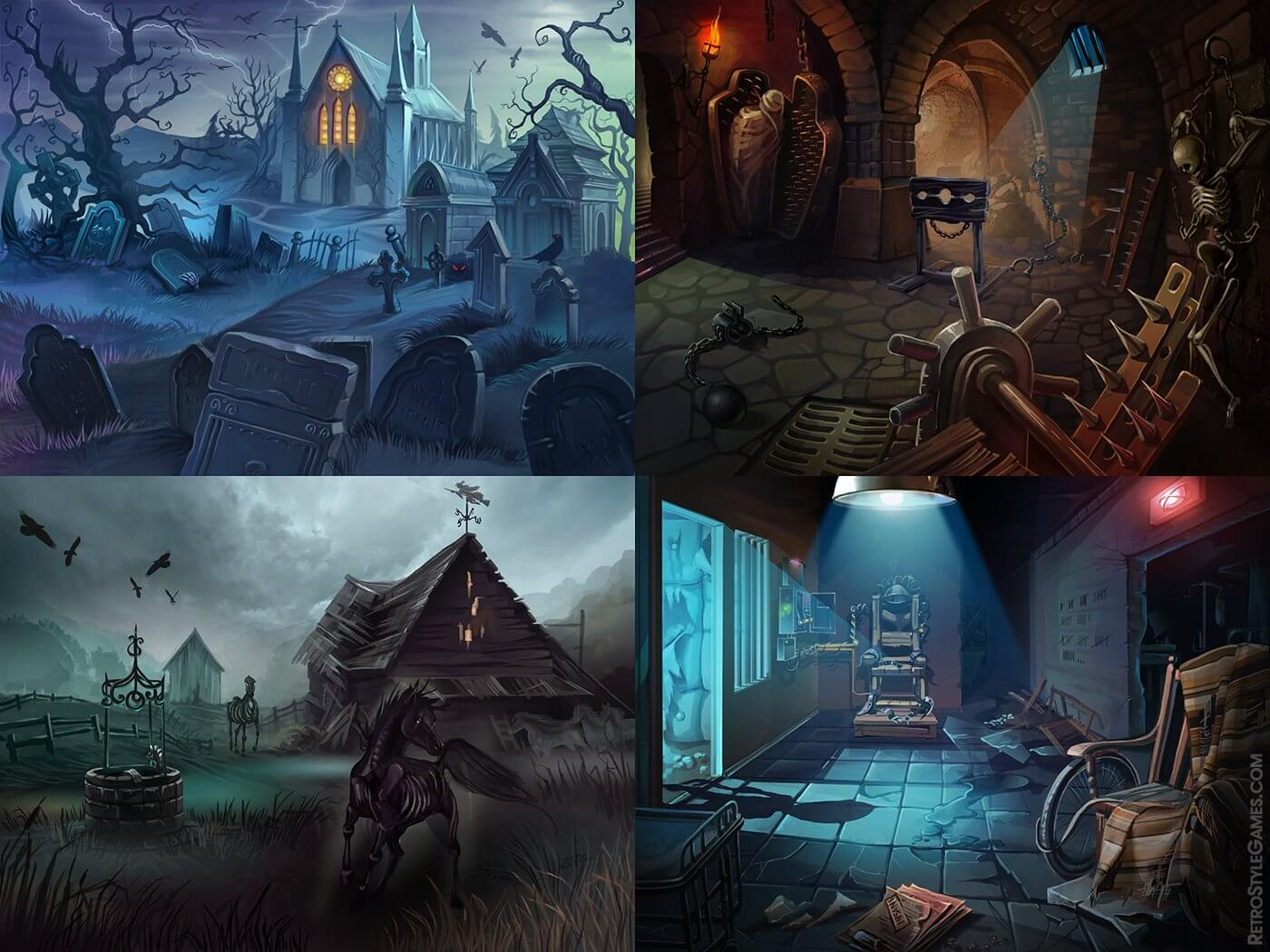backgrounds spooky bonus match 3 helloween themed gamed