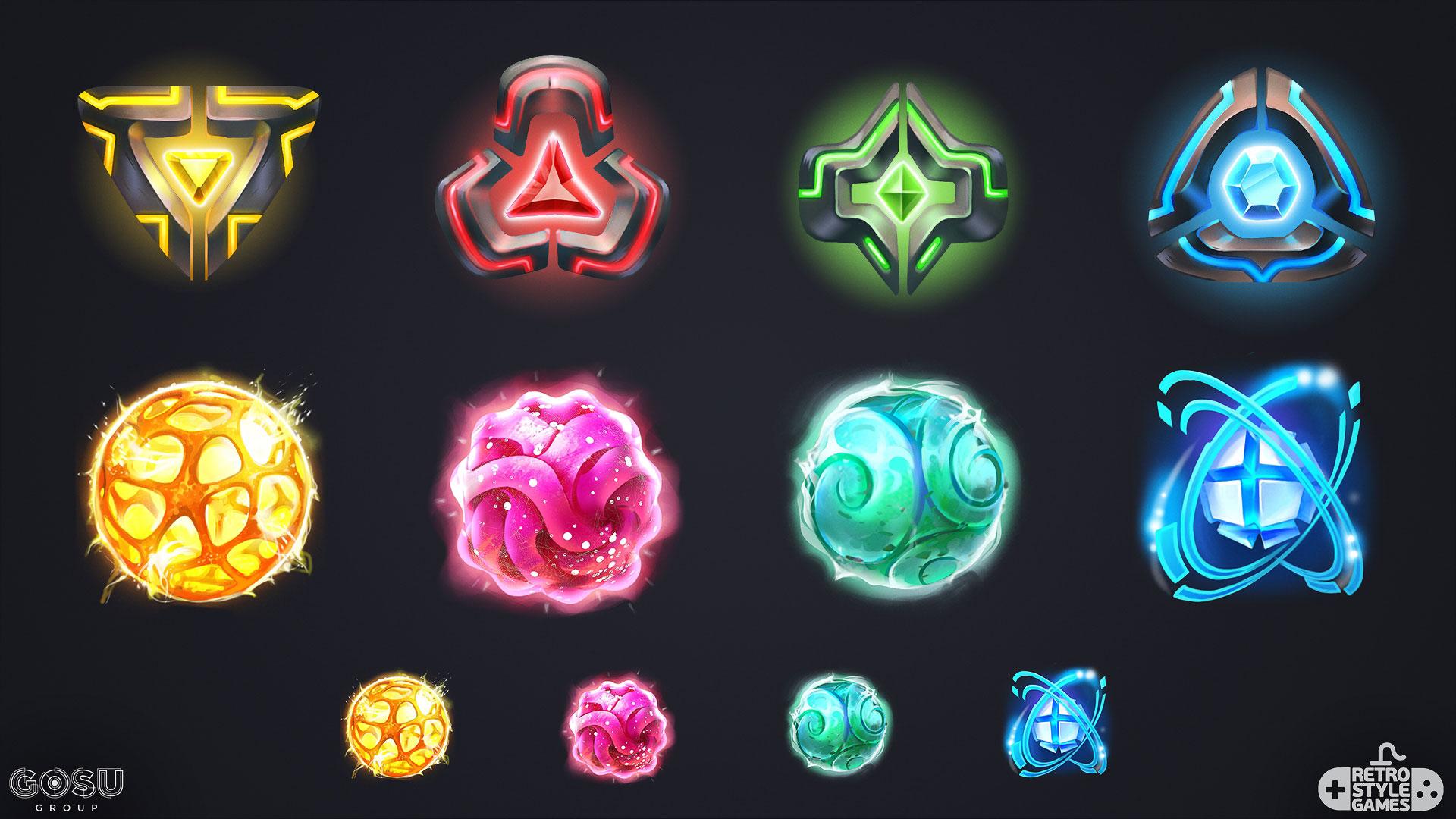chrono strike 2d sci-fi energy fx sphere fire diamond