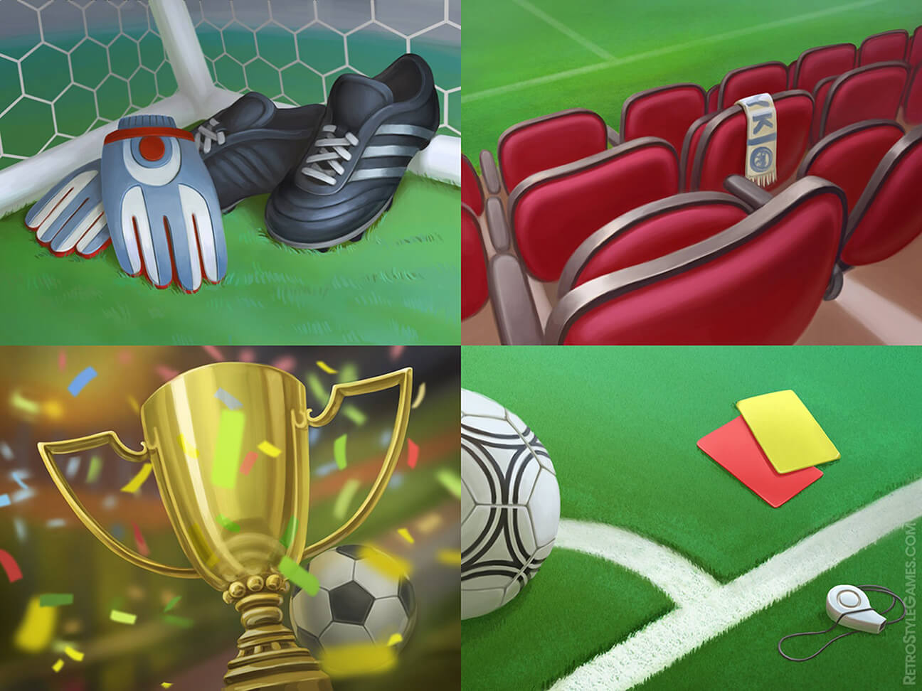 soccer solitaire football background