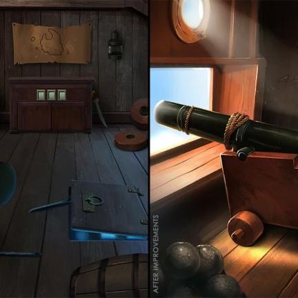 2D-PirateShip-Interior-Gun-Deck-before-after