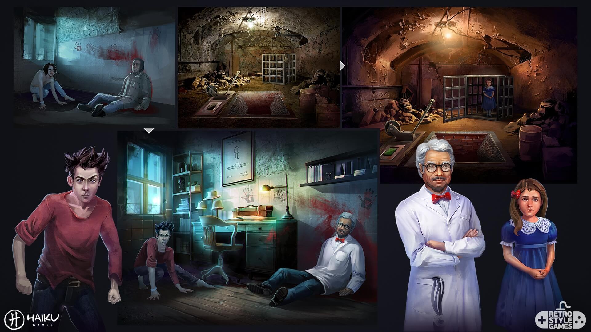 Asylum Environment full art sheet3 characters