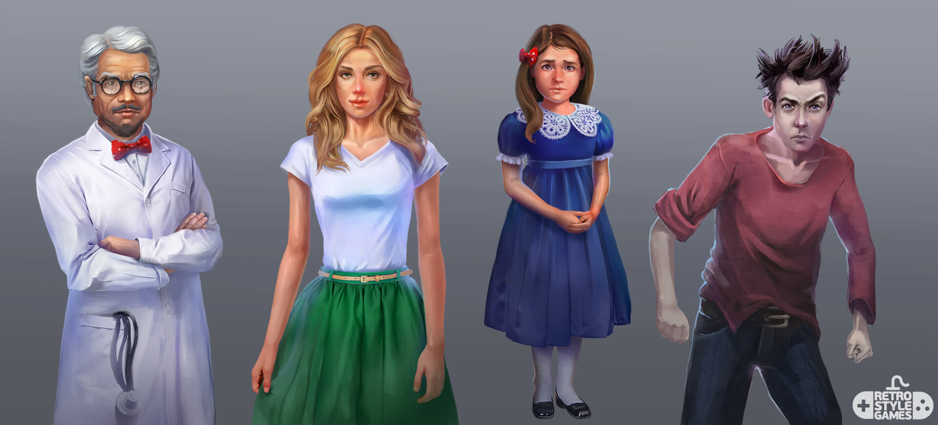 Asylum Game Characters concepts