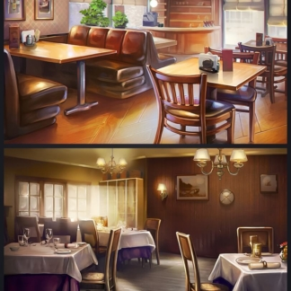chef solitaire 2d interior restaurant background