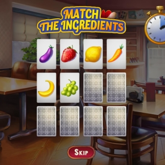 chef solitaire minigame match ingredients