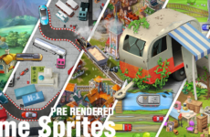 3D, 2D Game Sprites – Isometric, Pre-rendered, Top-down, Tiles