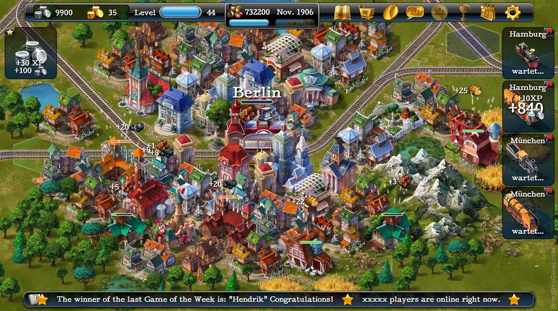 Isometric 3D Sprites Steampower City Building Games
