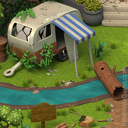 Isometric Camper Harbor Creek 3D Sprites ISO