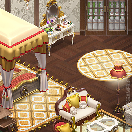 Isometric Game 3D Assets Luxury Royal Interior ISO
