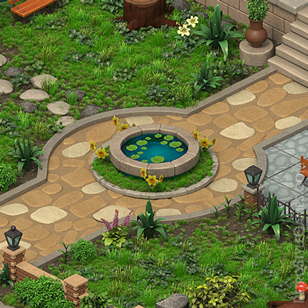Isometric Messy Entrance Table 3D Sprites ISO