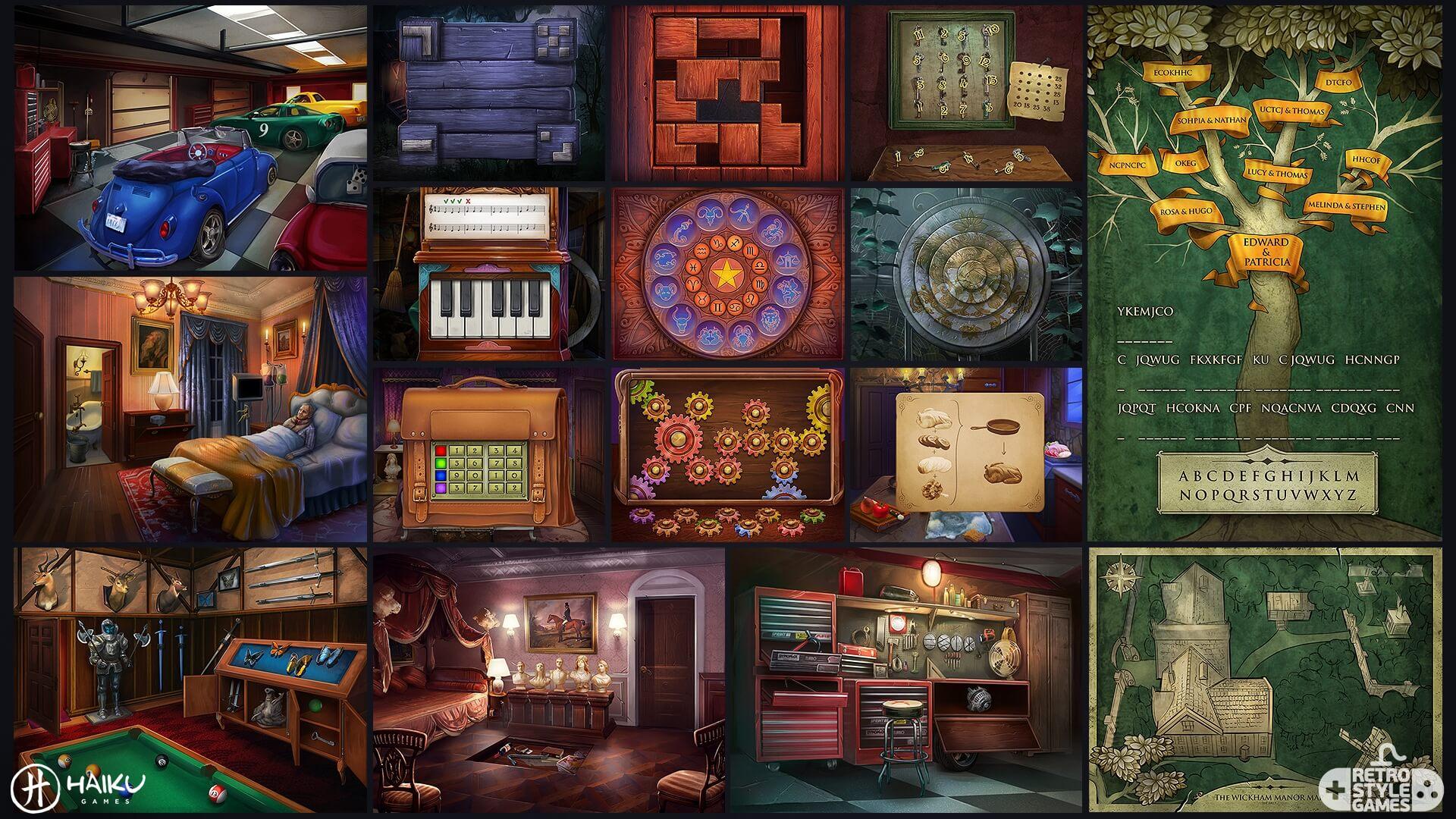 Murder Manor HEPA full art sheet2 puzzles