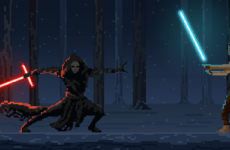 Star Wars Finn VS Kylo Ren – Force Awakens Pixel Art