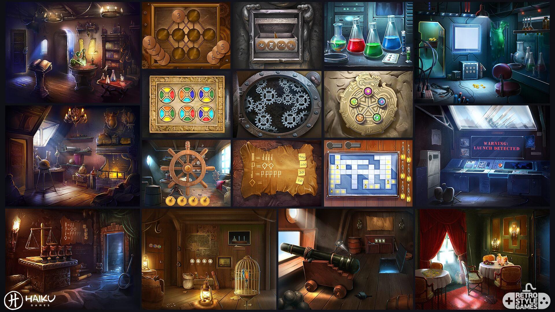 TimeLibrary HOG full art sheet2 puzzles