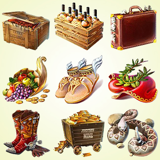 Icons – 2D and 3D Game Tiles, Chips, Objects, Cursors and more
