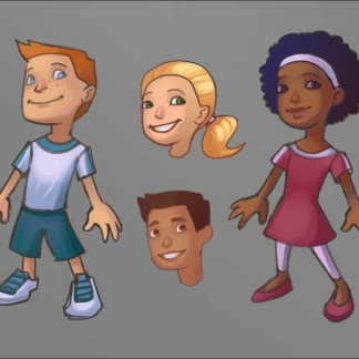characters kids game