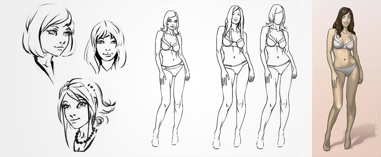 fashion life characters girl