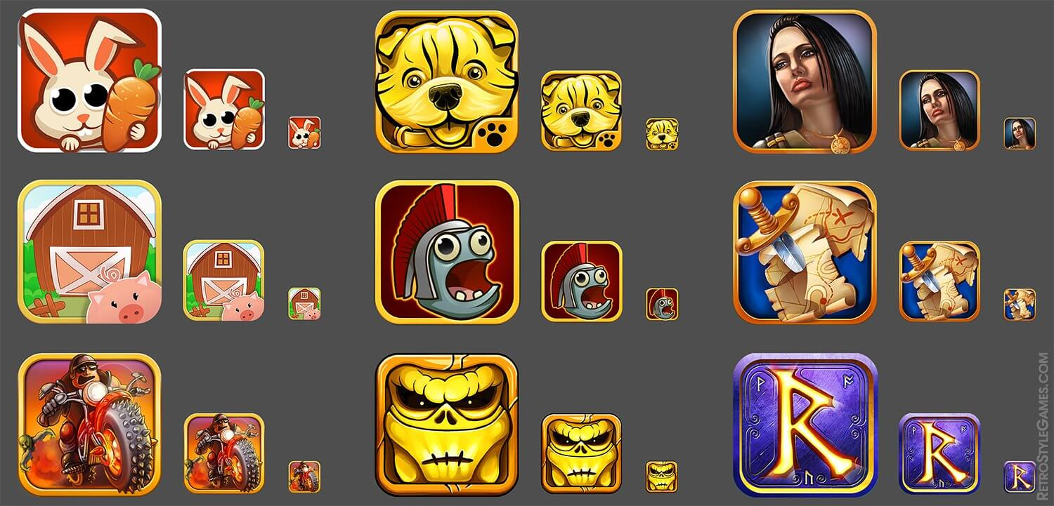 icons appstore ios games various 2d