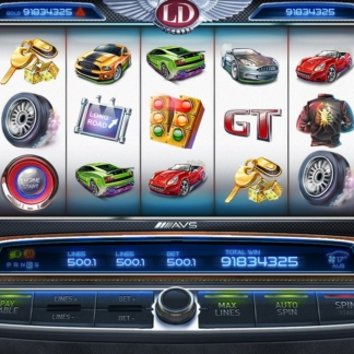 icons slots game factory night racing theme