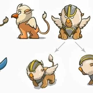 pokemon like 2d creatures concepts