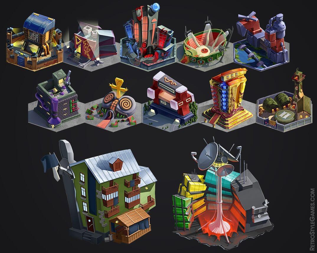 Car Building Games >> Pre-rendered 3D Game Sprites — 2D Isometric Tiles