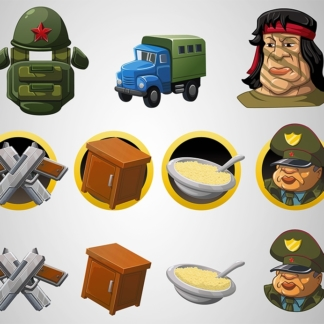 vk army vector icons
