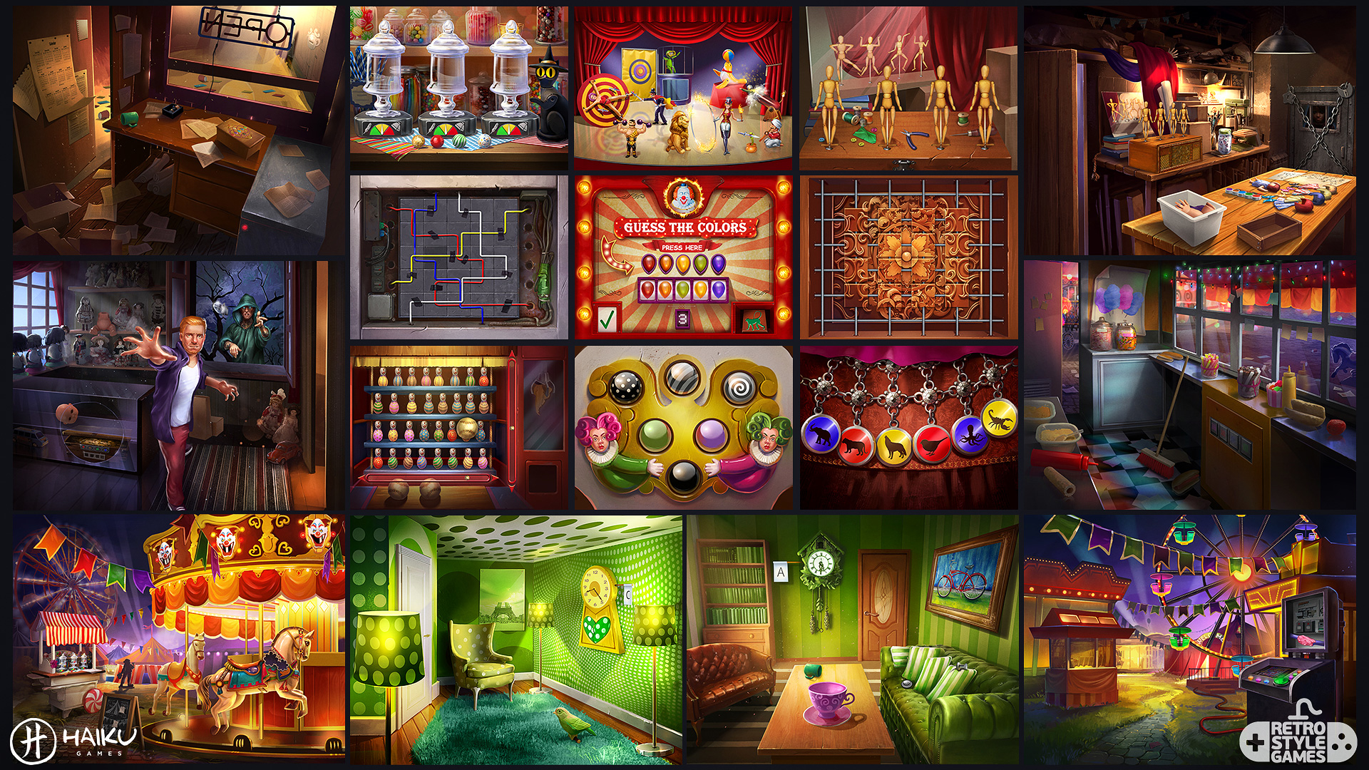 midnight 2d carnival full art sheet2 puzzles