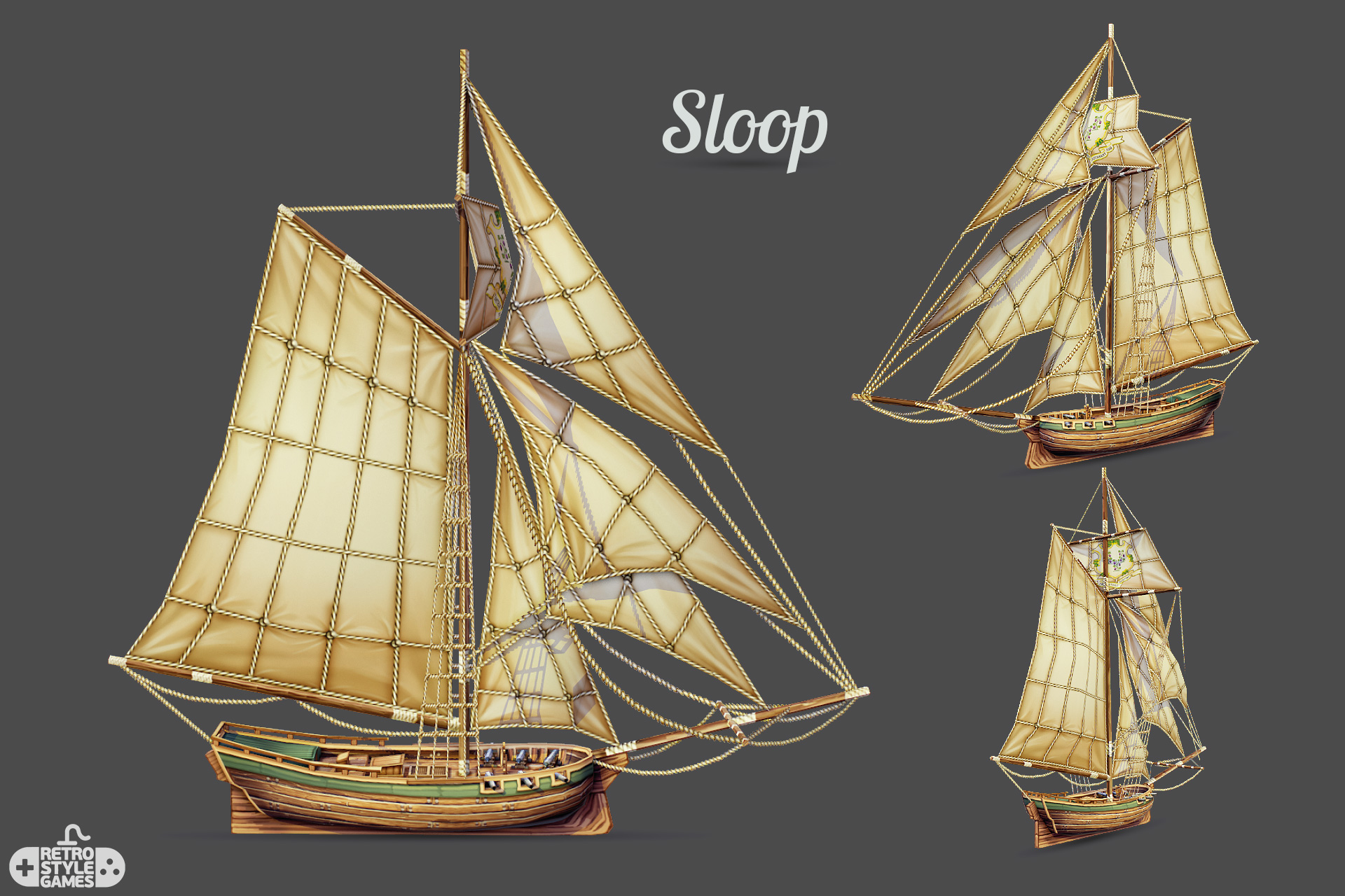 Pirate Ships Collection - 3ds Games Sprite