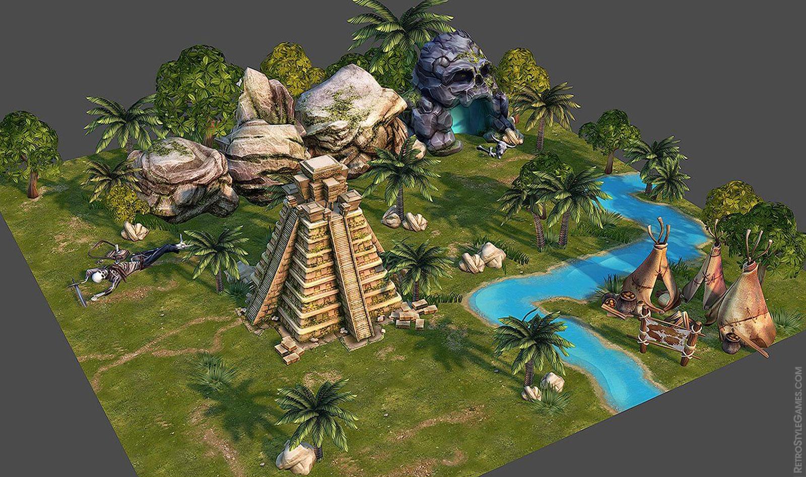3d modeling filibuster pirates island assets