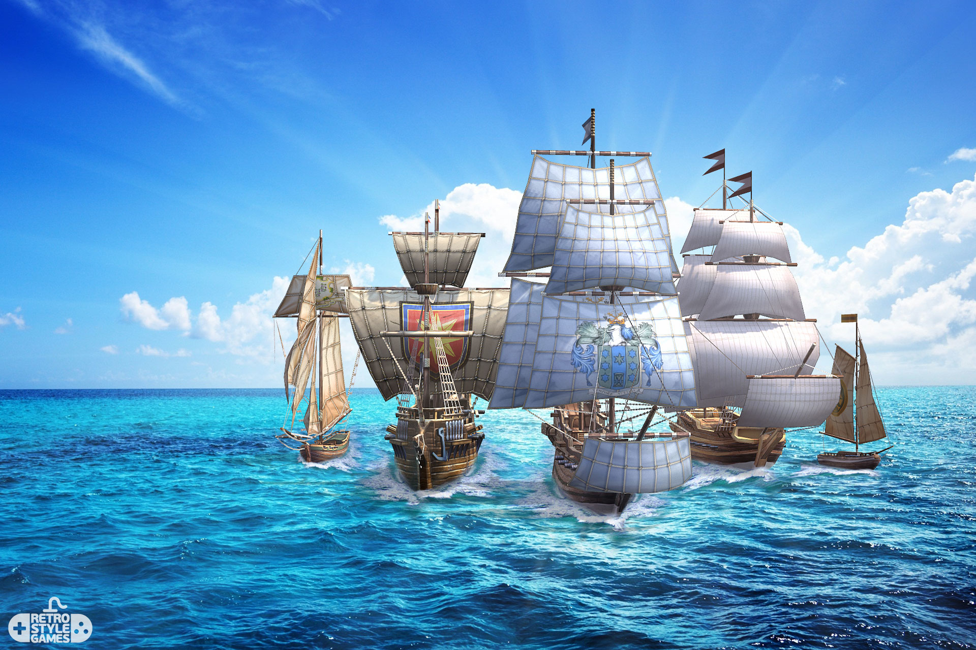 pirate ships pack flotilla first image