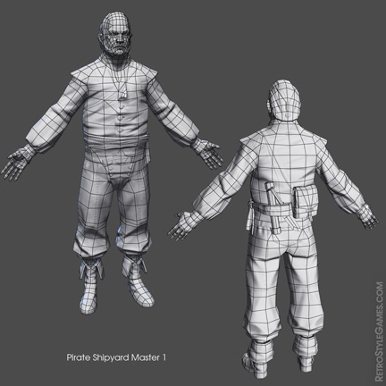 Low Poly Pirate Characters 3d Real Time sheet 02
