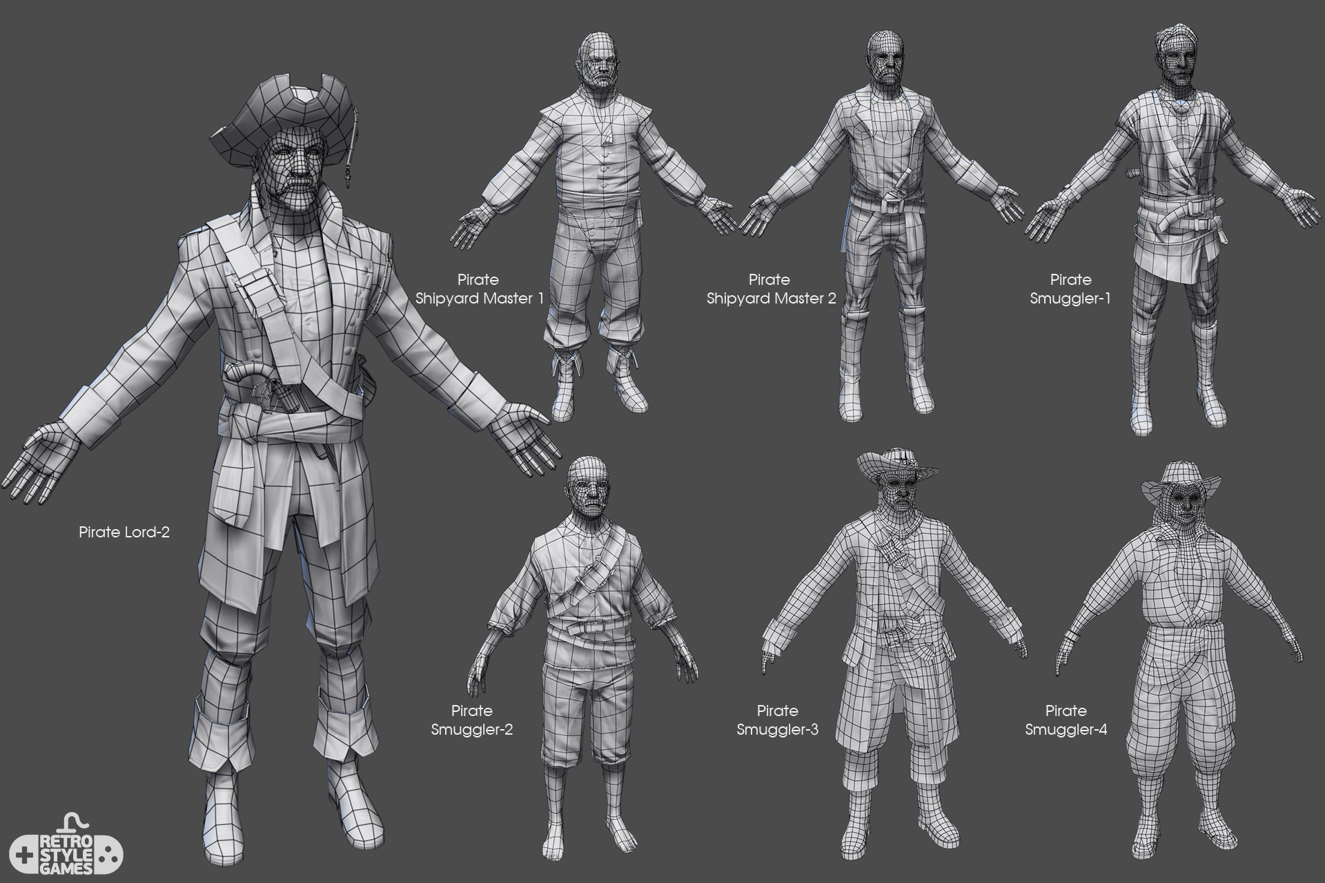 Pirate Characters - Real-time 3D Collection