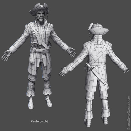 Low Poly Pirate Characters 3d Real Time sheet 03