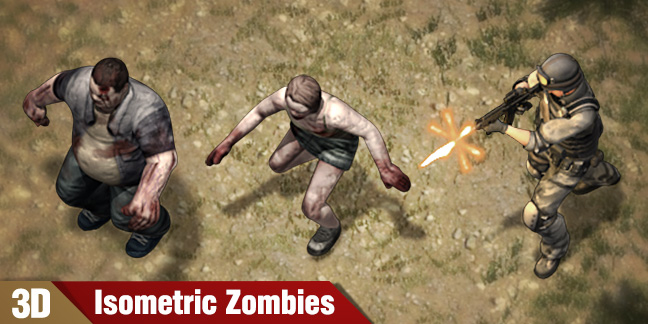 Free Isometric Sprites SWAT vs Zombies