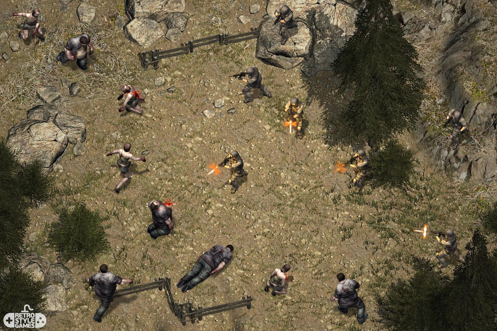 isometric sprites background zombie vs swat