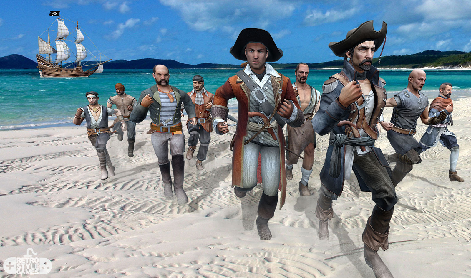 3d modeling pirates charaters realtime models addon