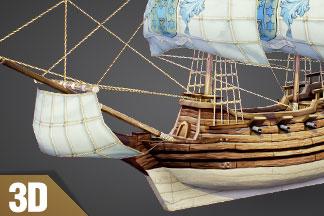 Free 3D Model of Pirate Ship – Fluyt