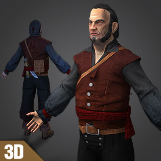 Free 3D Model of Pirate Character – Shipyard Master