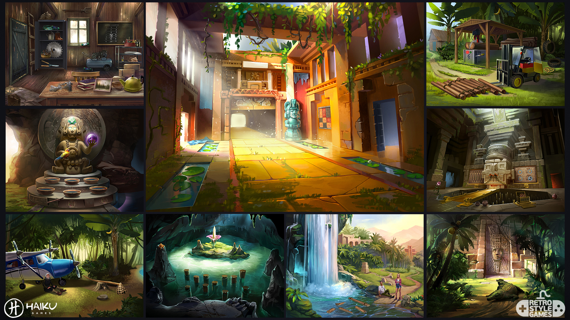 Hidden Ruins Adventure Escape full art sheet 1 backgrounds