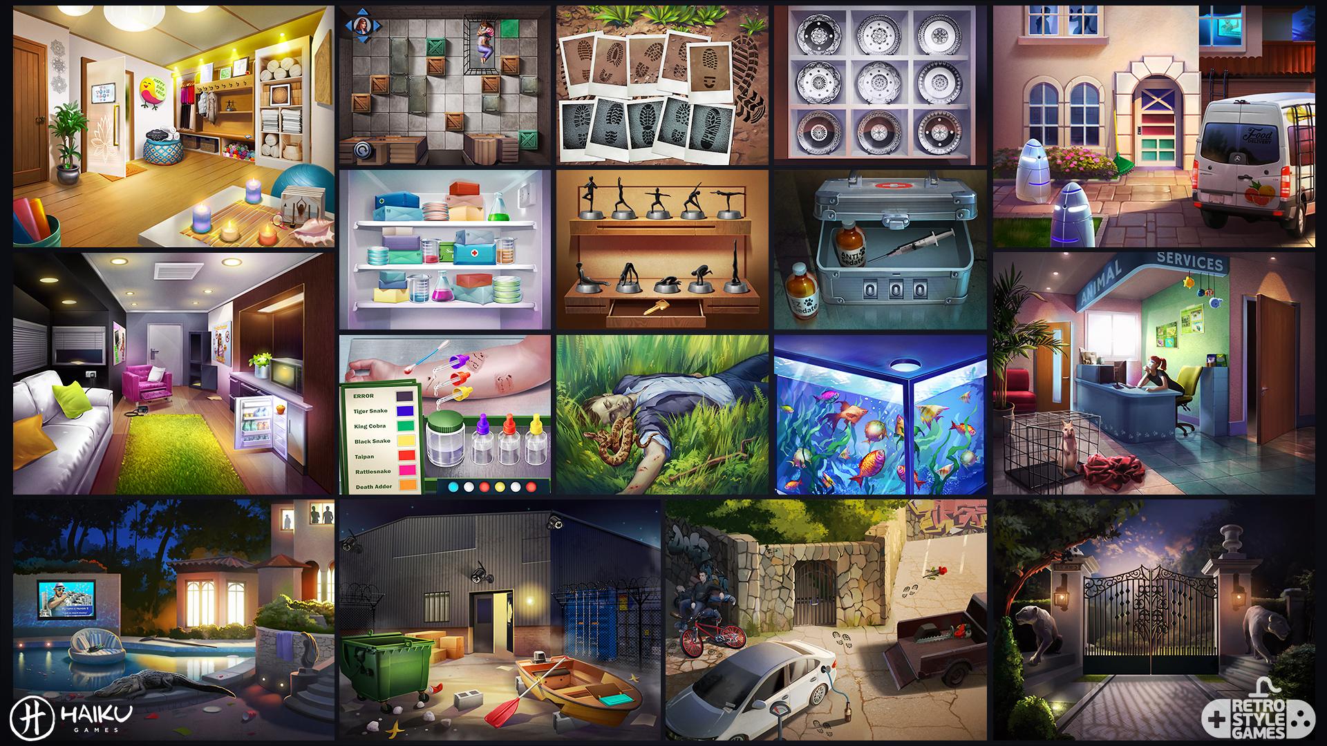 HAIKU Star Struck Adventure Escape full art sheet 2 backgrounds